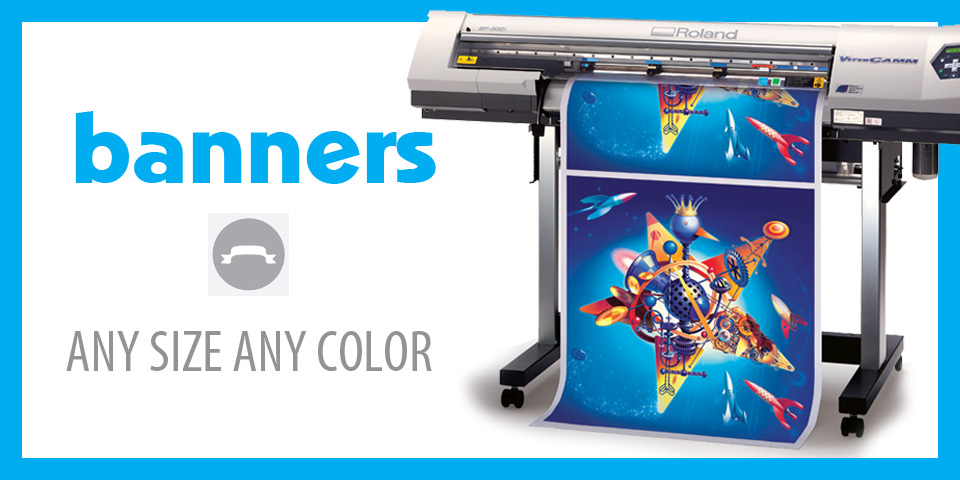 Banners, Vinyl, custom, full color, large format, any size.