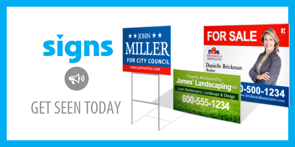 signs, vinyl signs, yard signs, marquis signs, full color signs