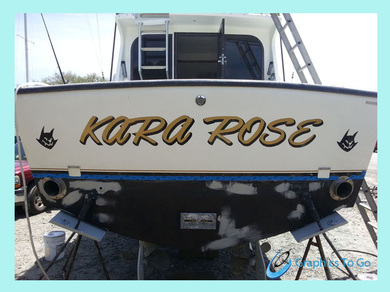 Boat Vinyl Graphics Decals